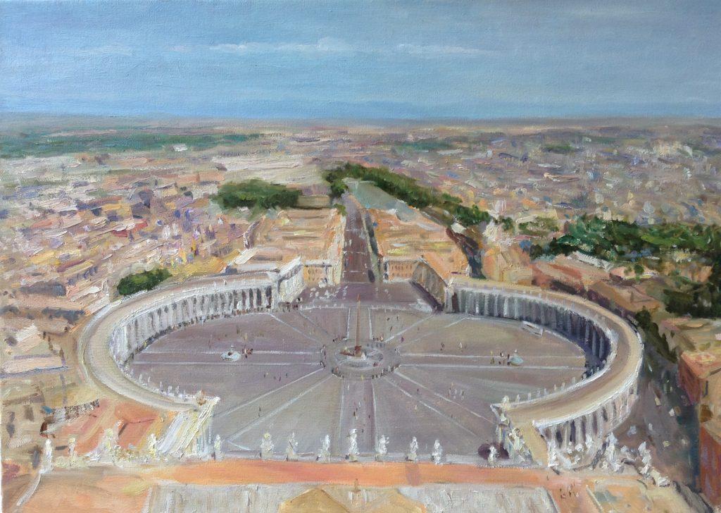 Ватикан, Рим, 70*50, 2015, в наличии