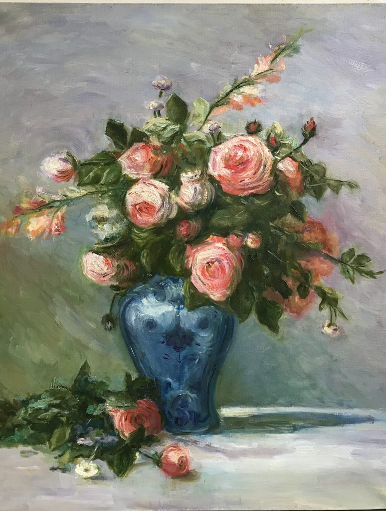 Розы Ренуар, 40*50 см, 2017